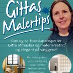 Oplev Gittas Malertips i butikken: Lørdag 9. juli kl. 10-12