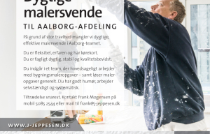 Malerfirmaet Jeppesen søger dygtige malersvende til Aalborg-afdeling