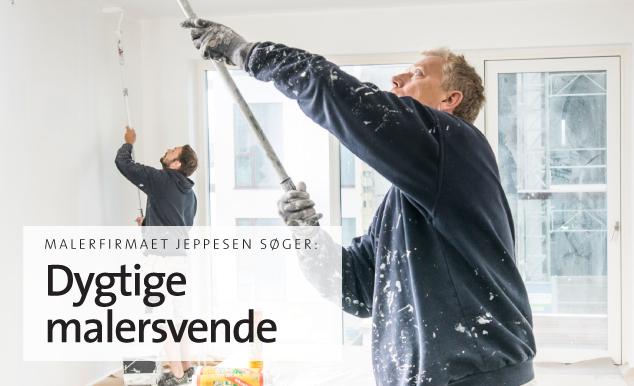 Malerfirmaet Jeppesen søger dygtige malersvende til afdelingerne i Aalborg og Hirtshals