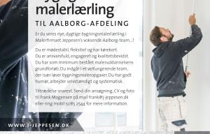 Malerfirmaet Jeppesen søger dygtig & stabil malerlærling til Aalborg-afdeling