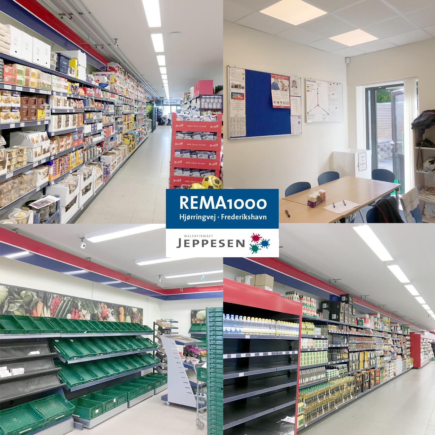 Nymalet og renoveret REMA 1000 butik i Frederikshavn
