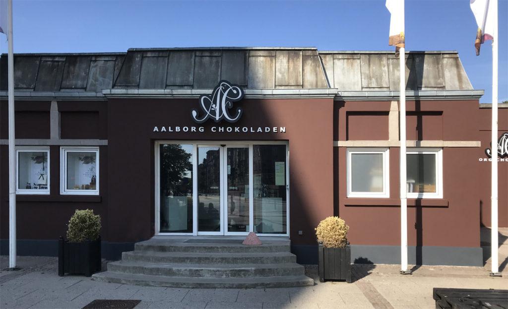 Aalborg Chokolade - nymalet facade, Malerfirmaet Jeppesen