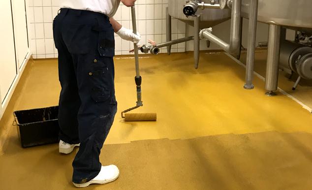 Nyhed: Special gulvmaling til levnedsmiddelindustrien