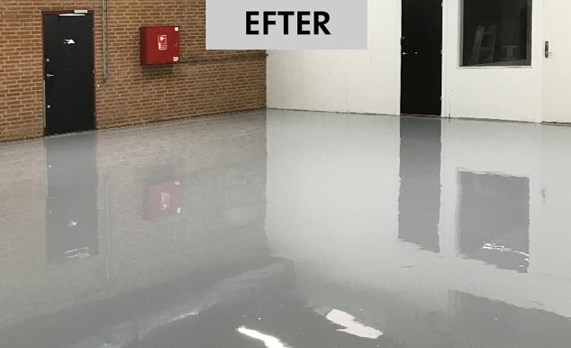 flot og grundig gulvmaling fra Frederikshavn Malerforretning og Malerfirmaet Jeppesen