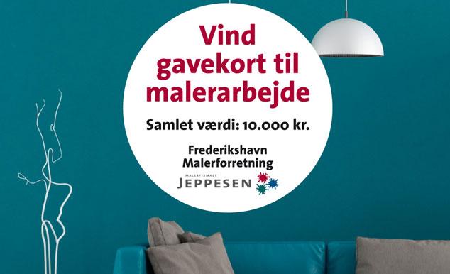 Konkurrence: Vind gavekort til malerarbejde - værdi 10.000 kr. hos Frederikshavn Malerforretning og Malerfirmaet Jeppesen